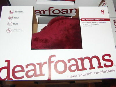 Dearfoams Slippers. New In Box. Color  Red-Size -Medium 7-8 Ret.@$28 (Sb7-Df4)