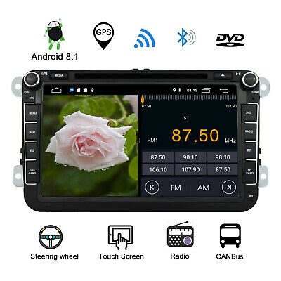 Android 8.1 Car DVD Player Stereo Radio GPS VW T5 Transporter Passat Seat Golf