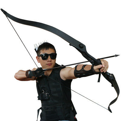 """Archery Takedown Recurve Bow Hunting Target Fishing 30lbs Right Hand 56"""" Longbow"""