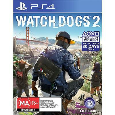 PS4 Watch Dogs 2 - BRAND NEW & SEALED *Aus Version*