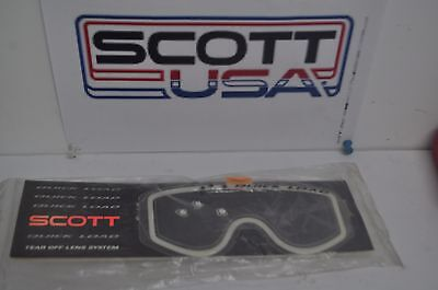 Scott googles lens 89 Quick Load 10 Tear Off Lens System Motocross vintage mx