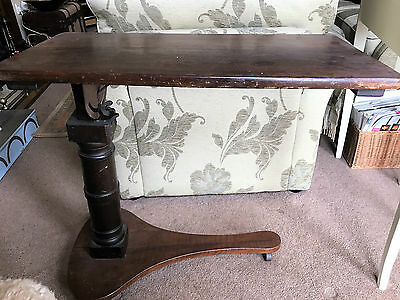 Antique Mahogany Over Bed / Reading Table