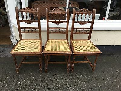 3 Immaculate French Country Caned Chairs