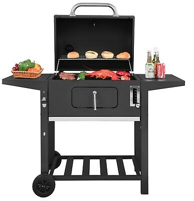 Royal Gourmet 24'' BBQ Charcoal Grill Backyard BBQ Cooking Side Table  CD1824A - ROYAL GOURMET 24'' BBQ Charcoal Grill Backyard BBQ Cooking Side