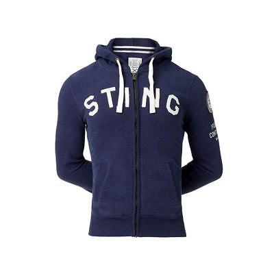 Original Sting Mens Pure Hoodie with Heavy Duty Zip Gym/casual wear RRP $129.99