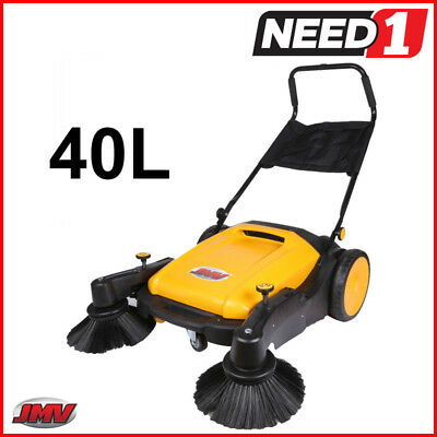 Jmv Industrial Floor Sweeper Heavy Duty 40L Capacity Wet And Dry 3680Sqm/hour