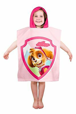 "Kids Novelty Character Paw Patrol ""Stars"" Hooded Towel Poncho Swim Beach Bath"