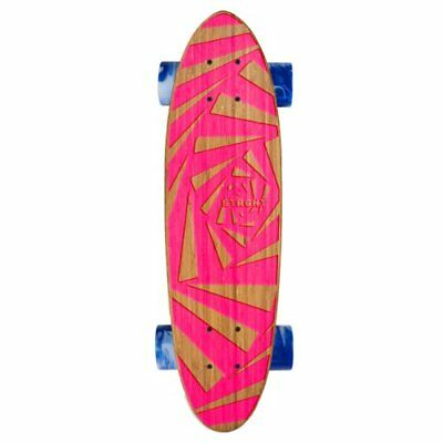 Strght Classic Cruiser Skateboard in Bamboo with Webby Design (Pink, 24.5 x 6.75
