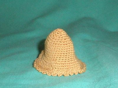 Puppenstubenpuppenhut altrosé/dollhouse doll hat rose coloured