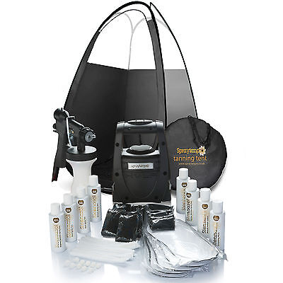Spray Tan Kit - TS20 HVLP Airbrush Machine, Tent, Tans, & Tanning accessories ❤