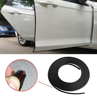 5M Black Moulding Trim Rubber Strip Car Door Scratch Protector Edge Guard Cover