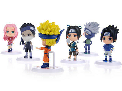 HOT Anime Naruto Set 6 pcs Figures Collection naruto figurines toy New