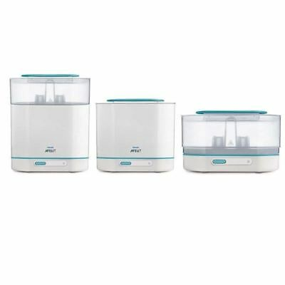 Philips Avent 3 in 1 Electric Steam Steriliser 1 2 3 6 12 Packs