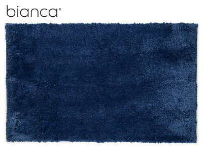 Bianca Super Plush Bath Mat - Steel Blue
