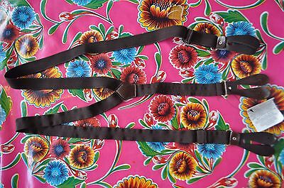 Vintage black braces suspenders with button fastening