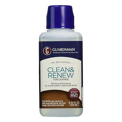 Guardsman Leather Clean & Renew Cleaner 250ml Soil Grime Dirt Couch Sofa