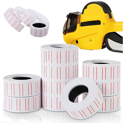 1X2X4X Rolls retail product price tags labels paper stickers for MX-5500 Tag Gun
