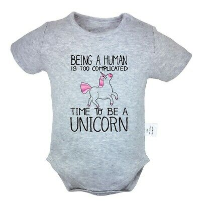 Time To Be A Unicorn Newborn Jumpsuit Unisex Baby Romper Bodysuit Clothes Outfit