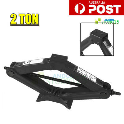 2 Ton Emergency Wind Up Scissor Jack Lift For Car Van Garage Speed Handle BLACK
