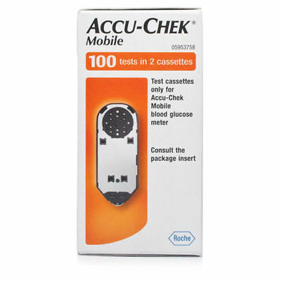 ACCU CHEK MOBILE TEST STRIPS 100  Exp July 2018