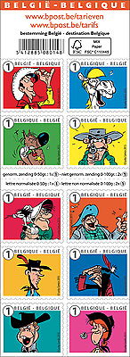Belgium- 2015 - Lucky Luke, friend and enemy - Stamp Booklet