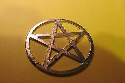 Large Three Inch Pewter Wiccan Pentacle
