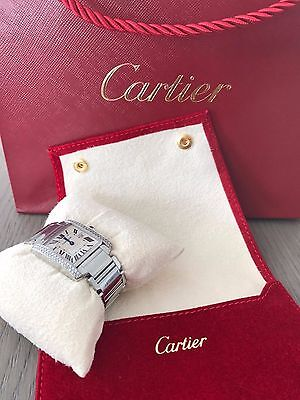 CARTIER Red Cream Suede Watch & Jewelry Pouch + Pillow NEW