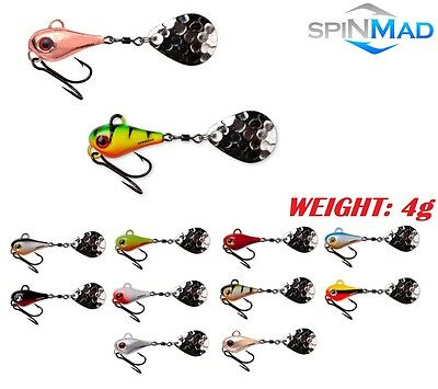SpinMad TAIL SPINNER BIG 4g PERCH CHUB dropshot PIKE Predator Tackle UK-Lures