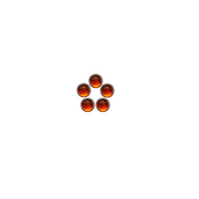 5x5mm 5pc Fine Quality Rose Cut Faceted Cabs Natural Hessonite Garnet