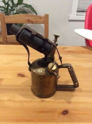 Vintage Brass Blow Torch; Old Tool; Collectable; Companion Max Sievert