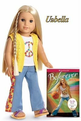 American Girl -  2 Beforever Julie Doll and Paperback Book New & Samantha doll