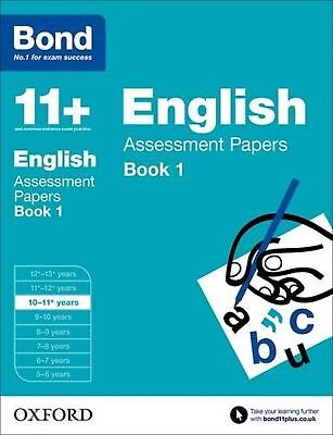 Bond 11+ Eleven Plus English Assessment Papers 10-11+ years Book 1 New Free Post