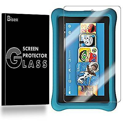 Amazon Fire HD 8 Kids [2-PACK BISEN] Tempered Glass Screen Protector Guard Saver