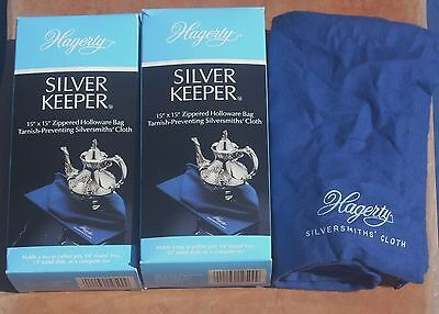 "Hagerty Silver Keeper 15"" x 15"" Zippered Holloware Bag Tarnish-Preventing Cloth"