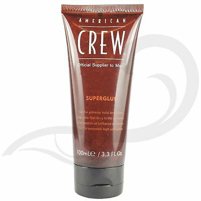 American Crew Super Glue Mens Extreme High Hold Styling Hair Care Gel 100ml