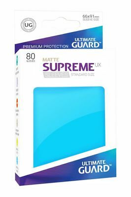 Ultimate Guard Supreme UX Sleeves Standard Matte Light Blue 80 Kartenhüllen