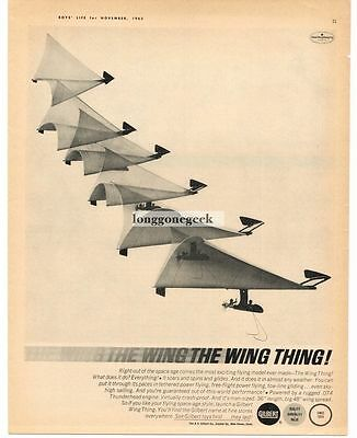 1963 A. C. Gilbert The Wing Thing Control Line Airplane Vintage Print Ad