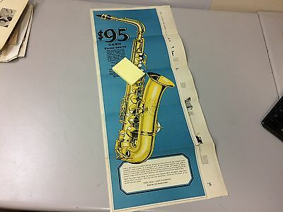 Vintage Conn Musical Instrument Company Saxophone Advertisement