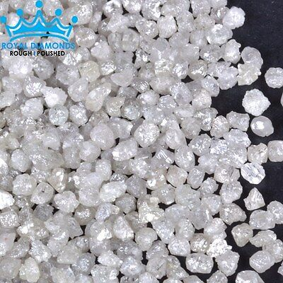 25 crts+ 100% Natural Loose Rough Diamonds Raw Real White 3.00mm Rare BEST DEAL
