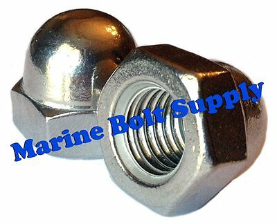 "Type 18-8 Stainless Steel Acorn Nuts / Cap Nuts (sizes 6-32 to 1/2"")"