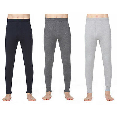 Mens Thermal Warm Long Johns Legging Underwear Baselayer Bottoms Winter Pants