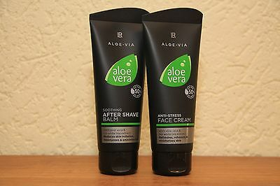 LR ALOE VIA  Aloe Vera Men Set After Shave Balm +  Anti Stress Creme 2 x 100 ml