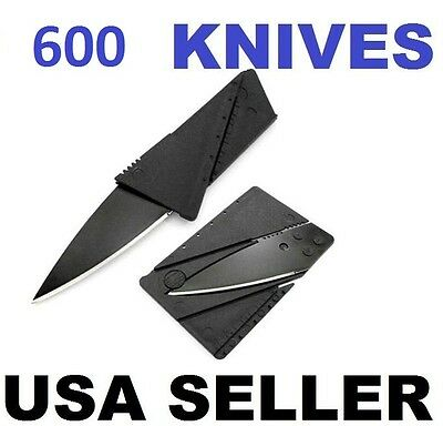 600 x Credit Card Knives Lot, folding, wallet thin, pocket survival micro knife