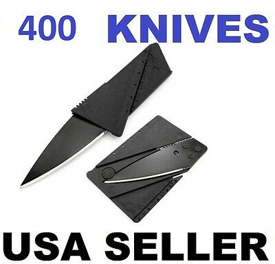 400 x Credit Card Knives Lot, folding, wallet thin, pocket survival micro knife