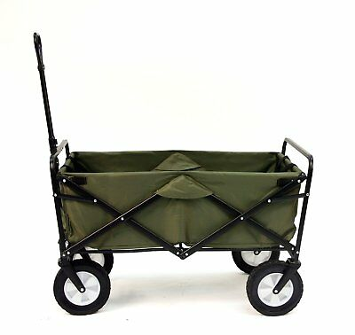New Collapsible Folding Outdoor Utility Wagon Large Capacity, No Assembly, Green