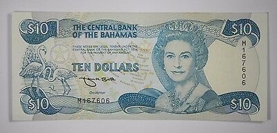 Central Bank Of The Bahamas 1974 10 Ten Dollars - Sign. Smith- Au! Inv#483