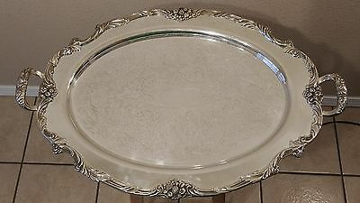 Reed & Barton King Francis Waiter Tray Silver Plate Serving Platter - 1665