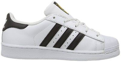 adidas Originals Kids' Superstar Foundation EL C Skate Shoe, White/Black/White