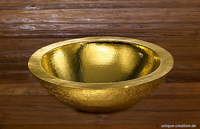24 karat Gold/Kupfer Waschbecken copper washbasin luxury spa first class 5 star