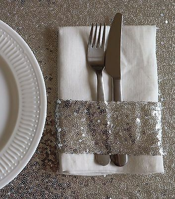Silver Sequin Napkin Holder